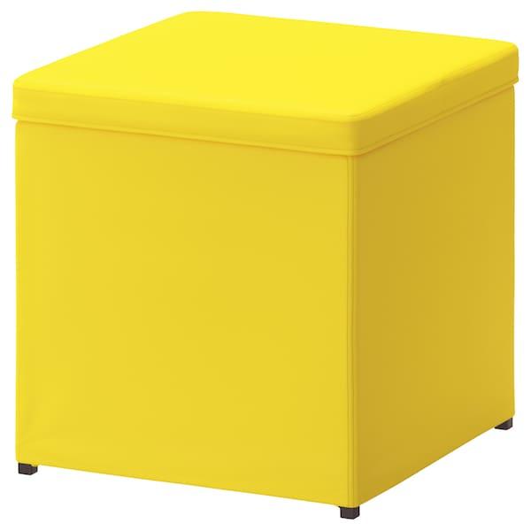 BOSNÄS Hocker mit Aufbewahrung, Ransta gelb