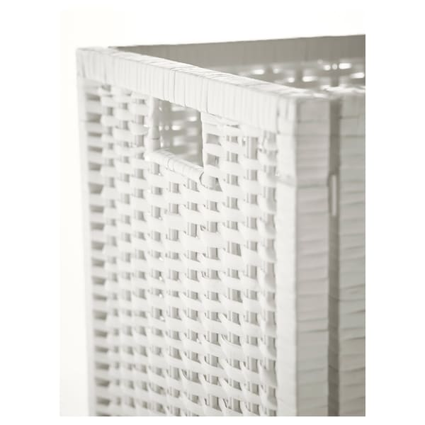 BRANÄS Korb, weiß, 32x34x32 cm