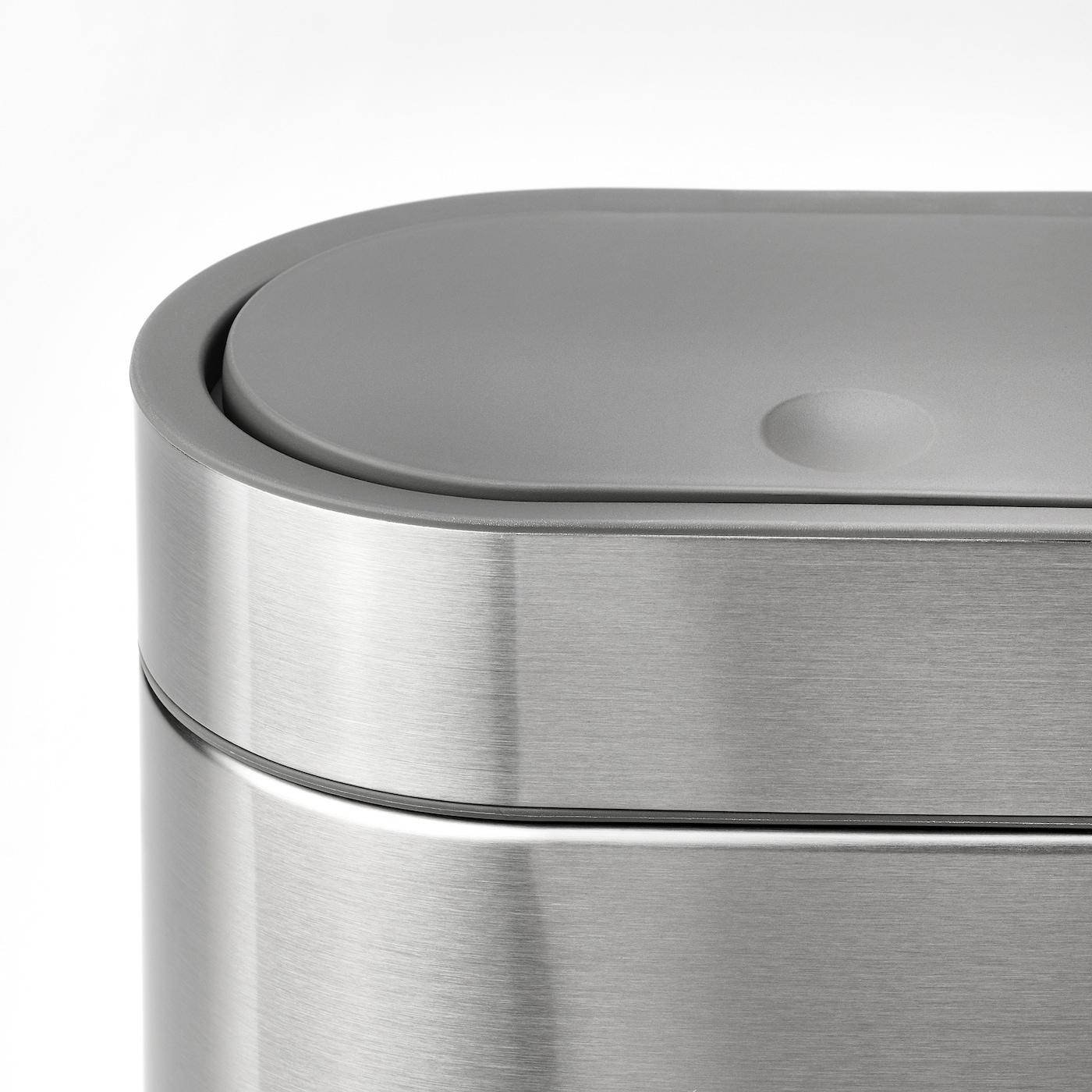 BROGRUND Abfalleimer mit Druckdeckel, Edelstahl, 4 l