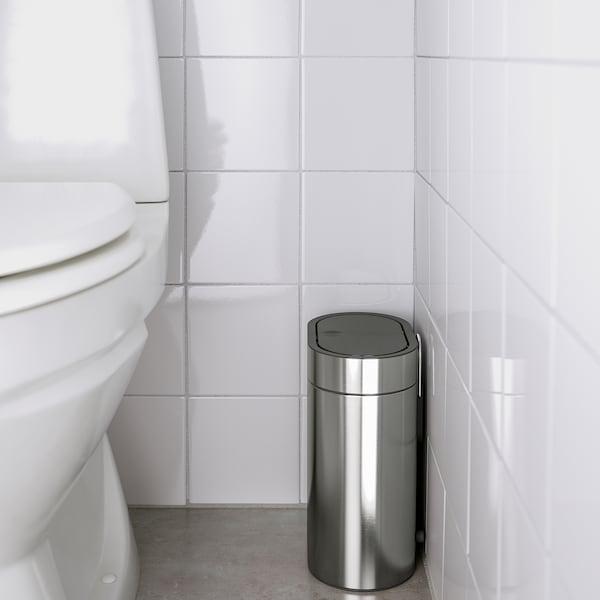 BROGRUND Abfalleimer mit Druckdeckel Edelstahl 21 cm 14 cm 27 cm 4 l