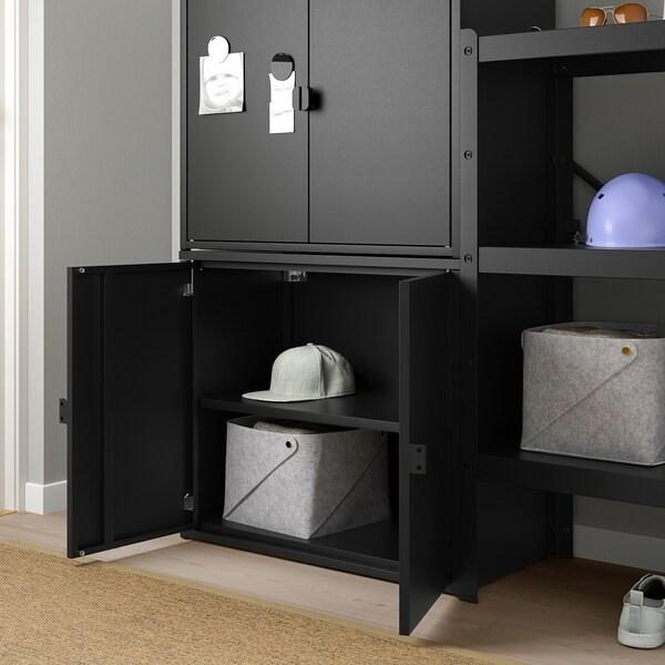 BROR Regal mit Schrank schwarz IKEA Österreich