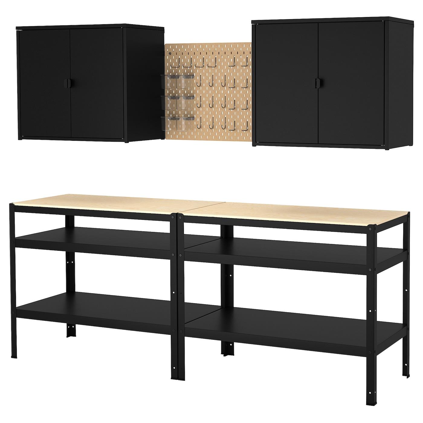 BROR Aufbew. mit Schrank/Werkbank - IKEA
