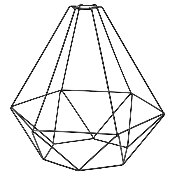 BRUNSTA Hängeleuchtenschirm, schwarz, 35 cm
