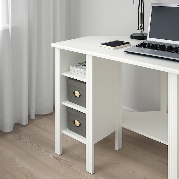 BRUSALI Eckschreibtisch, weiß, 120x73 cm