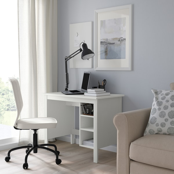 BRUSALI Schreibtisch, weiß, 90x52 cm