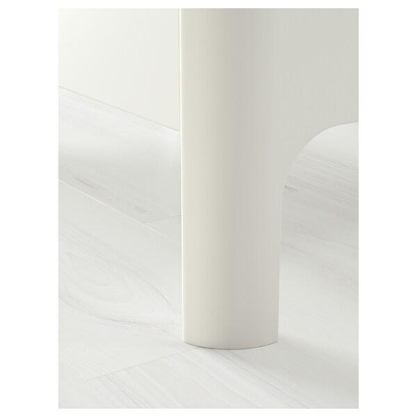 BUSUNGE Bettgestell, ausziehbar, weiß, 80x200 cm