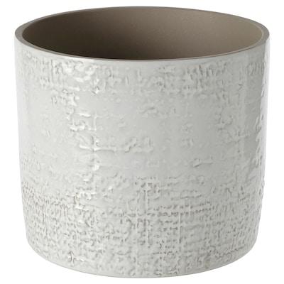 CHIAFRÖN Übertopf, drinnen/draußen weiß, 15 cm