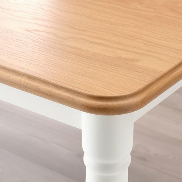 DANDERYD / INGOLF Tisch und 4 Stühle, Eichenfurnier weiß/weiß, 130x80 cm