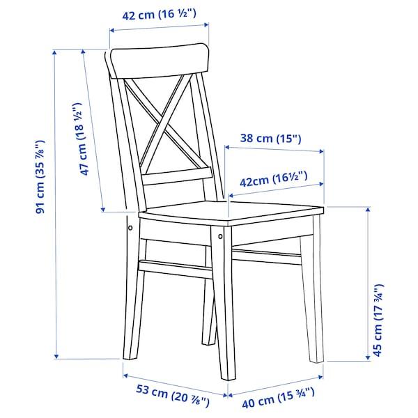 DANDERYD / INGOLF Tisch und 4 Stühle, Kiefernfurnier schwarz/braunschwarz, 130x80 cm