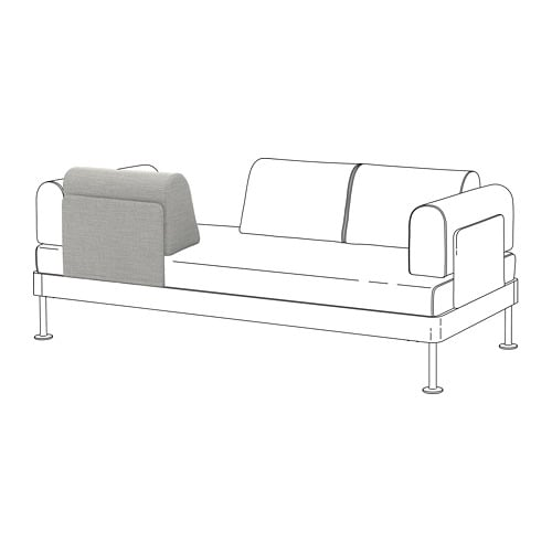 delaktig r ckenlehne mit kissen ikea. Black Bedroom Furniture Sets. Home Design Ideas