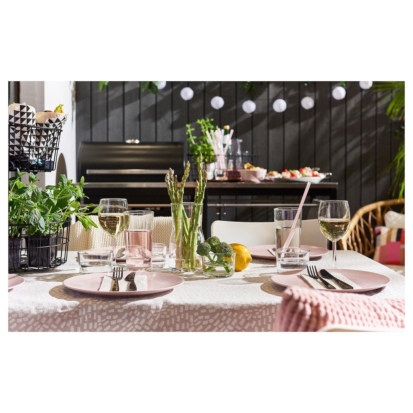 Speiseteller IKEA DINERA Teller in hellrosa; aus Steinzeug; 26cm