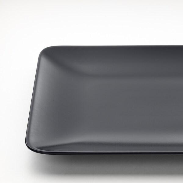 DINERA Teller, dunkelgrau, 30x20 cm
