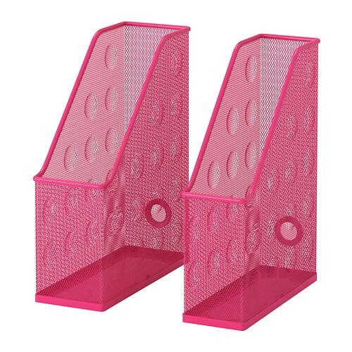 dokument zeitschriftensammler 2 st rosa ikea. Black Bedroom Furniture Sets. Home Design Ideas