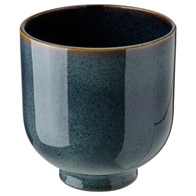 DRÖMSK Übertopf, drinnen/draußen dunkelblau, 15 cm
