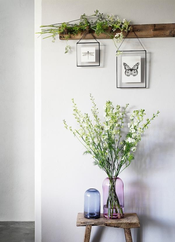 DRÖMSK Vase, grau, 18 cm