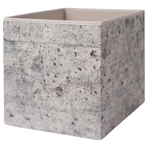 DRÖNA Fach grau Betonmuster 33 cm 38 cm 33 cm