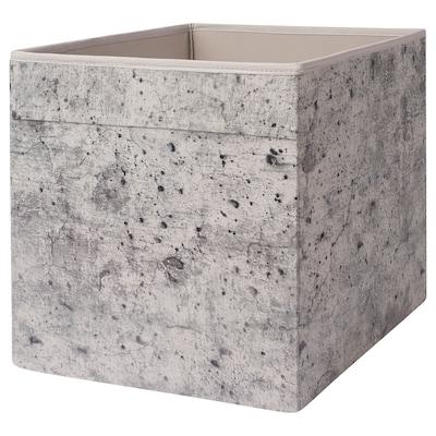 DRÖNA Fach, grau Betonmuster, 33x38x33 cm