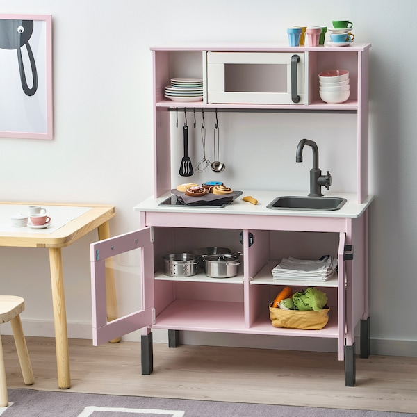 DUKTIG Spielküche, hellrosa, 72x40x109 cm