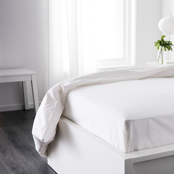 DVALA Bettlaken, weiß, 150x260 cm