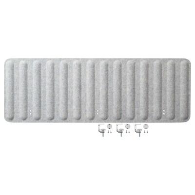 EILIF Abschirmung für Schreibtisch, grau, 140x48 cm