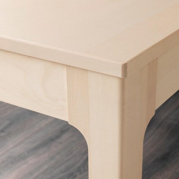 EKEDALEN / LEIFARNE Tisch und 4 Stühle, Birke/weiß, 120/180 cm