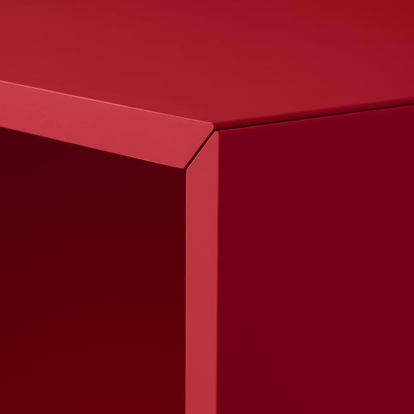 EKET Schrank mit 4 Fächern, rot, 70x35x70 cm