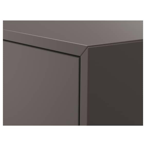 EKET Schrank mit Tür + 1 Boden, dunkelgrau, 35x35x70 cm