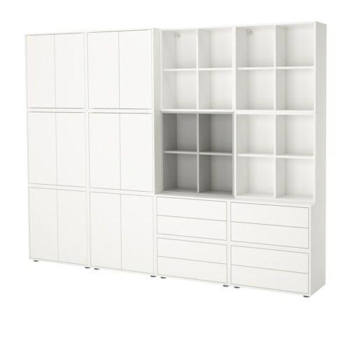 eket schrankkombination f e wei hellgrau ikea. Black Bedroom Furniture Sets. Home Design Ideas