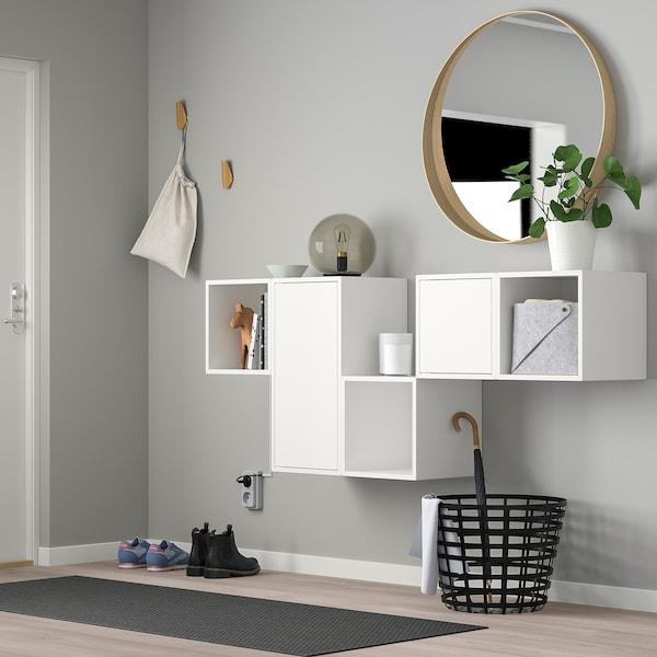 EKET Schrankkombination für Wandmontage, weiß, 175x35x70 cm