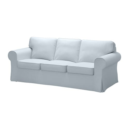 ektorp bezug 3er sofa nordvalla hellblau ikea. Black Bedroom Furniture Sets. Home Design Ideas
