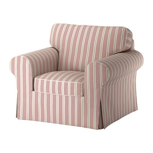 ektorp bezug sessel mobacka beige rot ikea. Black Bedroom Furniture Sets. Home Design Ideas