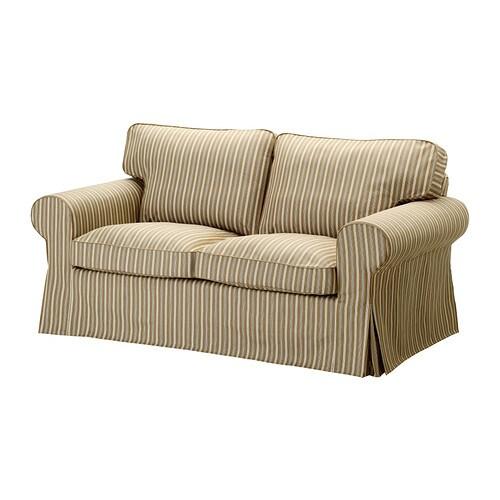 ektorp 2er sofa linghem hellbraun streifen ikea. Black Bedroom Furniture Sets. Home Design Ideas