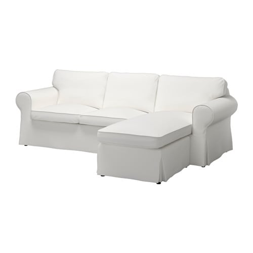 ektorp 3er sofa mit r camiere vittaryd wei ikea. Black Bedroom Furniture Sets. Home Design Ideas