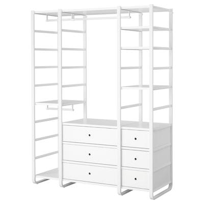 ELVARLI 3 Elemente, weiß, 165x55x216 cm