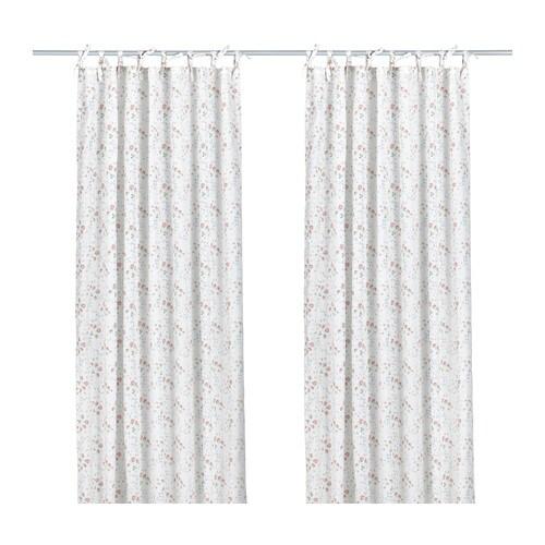 EMMIE KNOPP Gardinenpaar IKEA Bindebänder an der Oberkante; für Gardinenstangen geeignet.