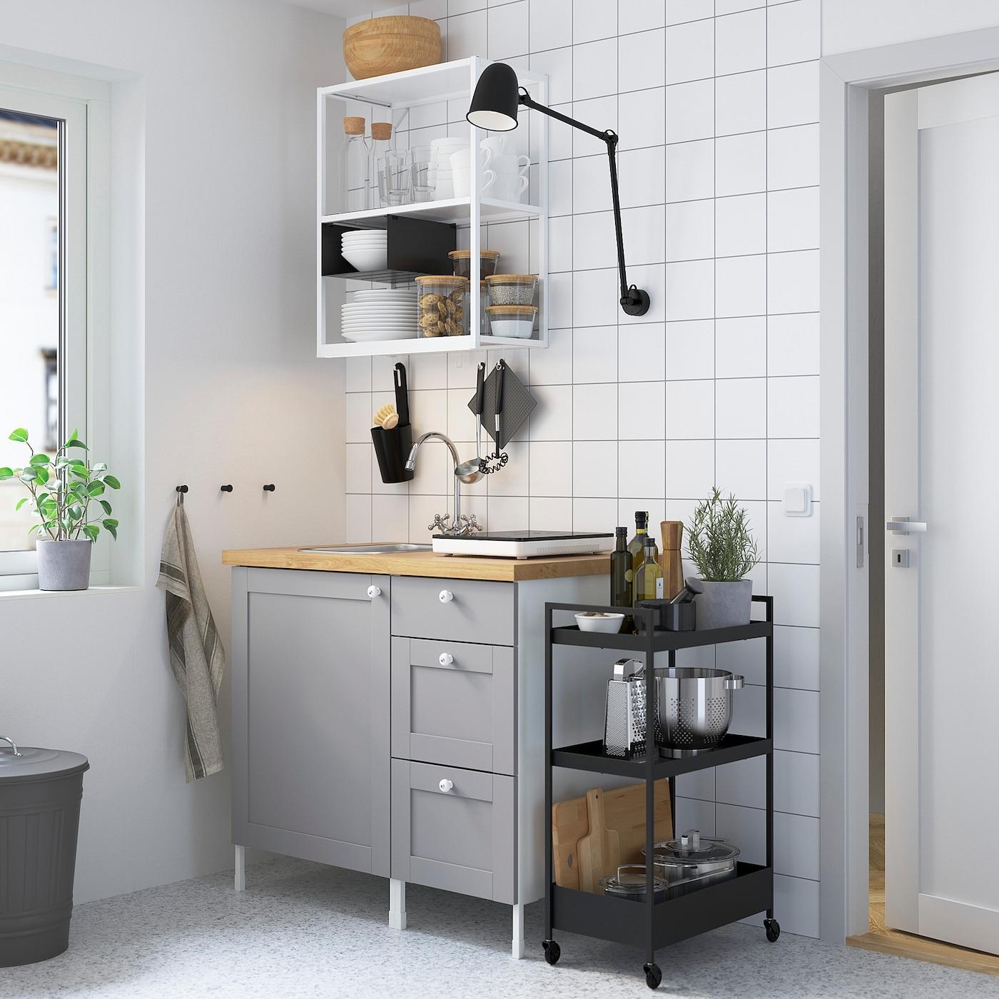 ENHET Küche - weiß/grau Rahmen - IKEA Österreich