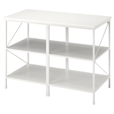 ENHET Kücheninsel/Regal, weiß, 123x63.5x91 cm