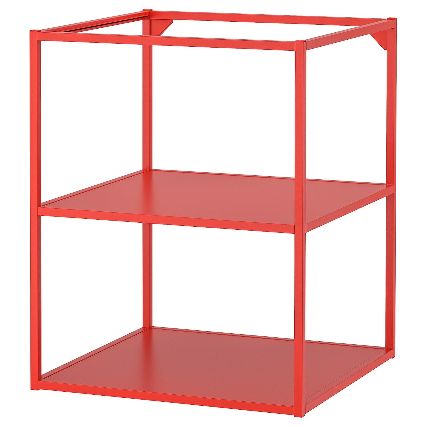 ENHET Regalrahmen für Unterschrank+Böden rotorange IKEA