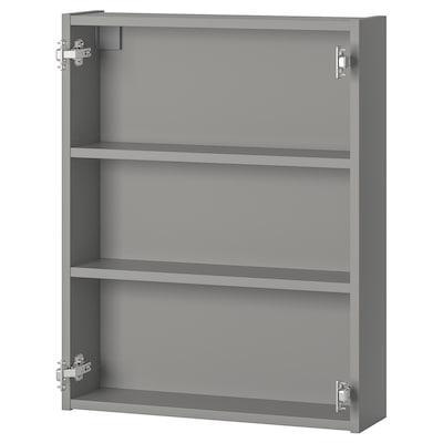 ENHET Wandschrank mit 2 Böden, grau, 60x15x75 cm