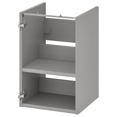 ENHET Waschbeckenschrank mit Boden, grau, 40x40x60 cm