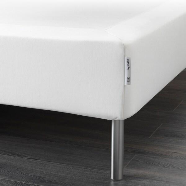 ESPEVÄR Boxspring mit Beinen, weiß, 160x200 cm