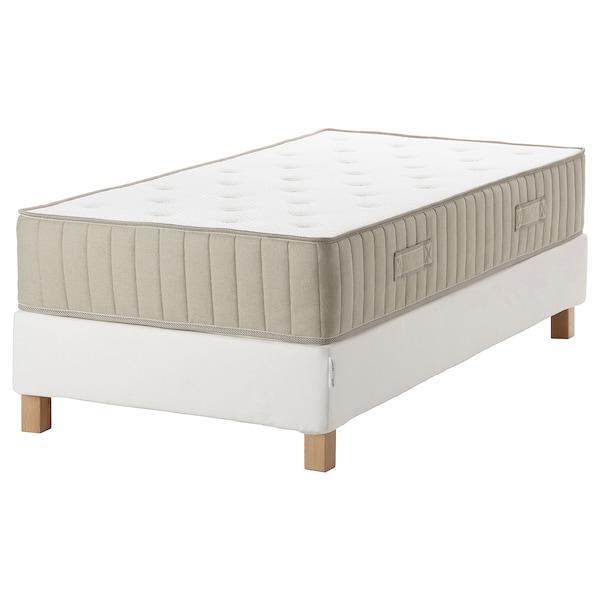 ESPEVÄR/VATNESTRÖM Boxbett, weiß/mittelfest natur, 90x200 cm