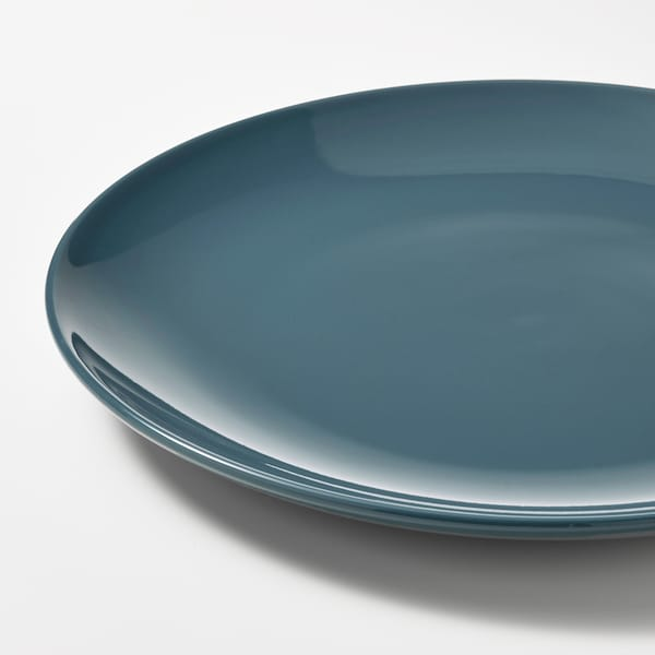 FÄRGKLAR Teller, glänzend dunkeltürkis, 26 cm