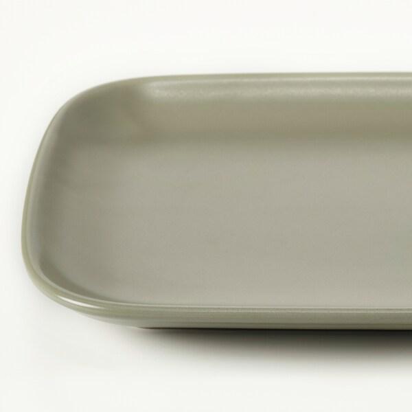 FÄRGKLAR Teller, mattiert grün, 30x18 cm