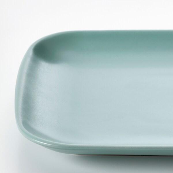 FÄRGKLAR Teller, mattiert helltürkis, 30x18 cm