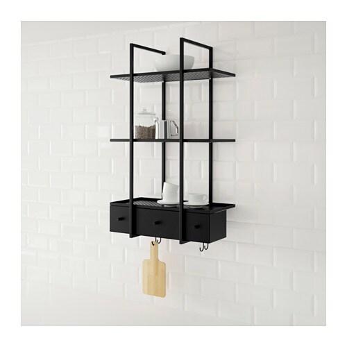 wandregal k che ikea. Black Bedroom Furniture Sets. Home Design Ideas