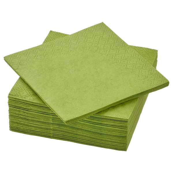 FANTASTISK Papierserviette, mittelgrün, 24x24 cm