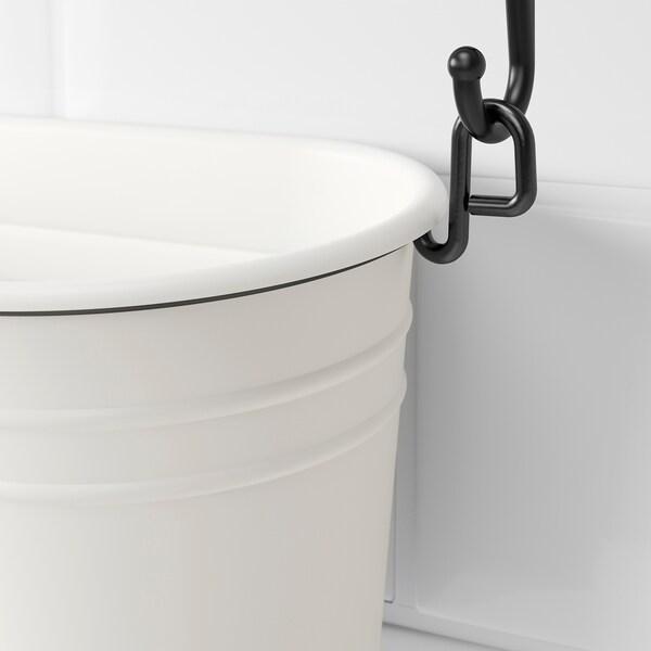 FINTORP Gewürzständer, weiß/schwarz, 37x13 cm