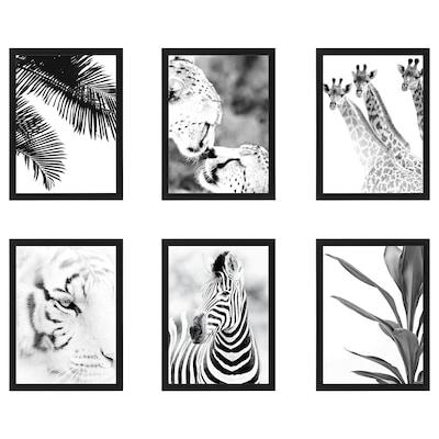 FISKBO Rahmen mit Bild, Wildtiere, 30x40 cm