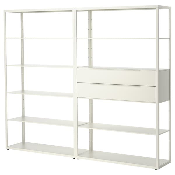 FJÄLKINGE Regal mit Schubladen weiß | Ikea regal